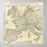 Mapa grabado de Europa Impresiones