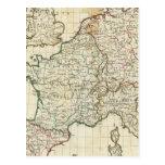 Mapa grabado de Europa Postal