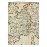 Mapa grabado de Europa Tarjeta De Felicitación