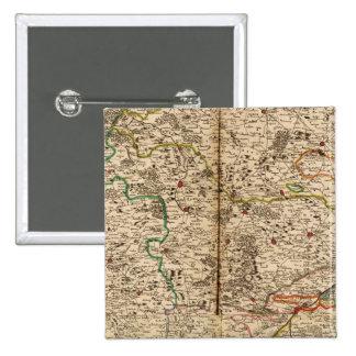 Mapa grabado de los bosques de Alemania Pins