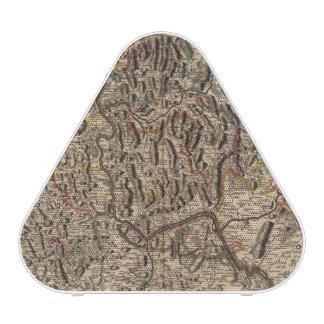 Mapa grabado del valle del río Rhine Altavoz
