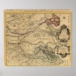 Mapa grabado valle del río Po Impresiones