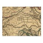 Mapa grabado valle del río Po Postal