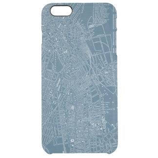 Mapa gráfico de Boston Funda Clearly™ Deflector Para iPhone 6 Plus De Unc
