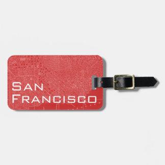 Mapa gráfico de San Francisco Etiquetas De Equipaje