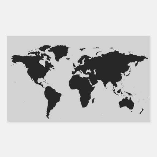 mapa gráfico negro del mundo rectangular altavoz