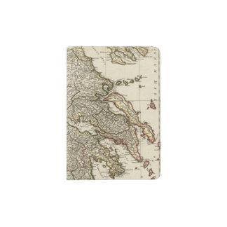 Mapa griego antiguo porta pasaportes