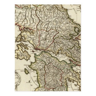 Mapa griego antiguo tarjetas postales