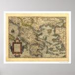 Mapa griego Ortelius 1570 de las islas Posters