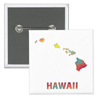 Mapa HAWAII del estado del mosaico del polígono Pin