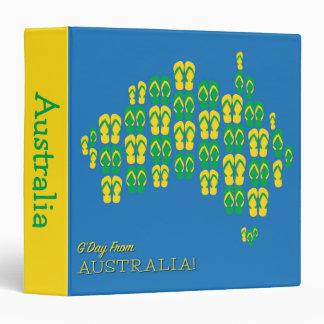 "Mapa hecho de correas australianas carpeta 1 1/2"""