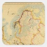Mapa hidrográfico de Europa Colcomanias Cuadradass
