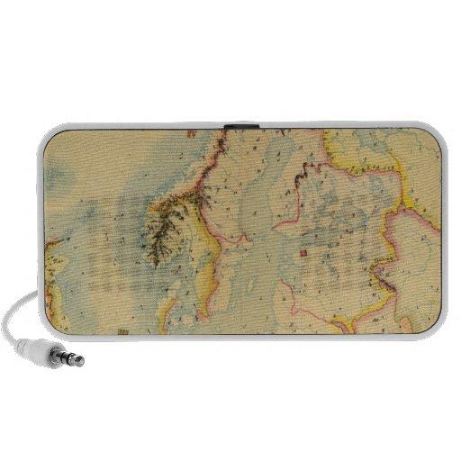 Mapa hidrográfico de Europa iPhone Altavoz