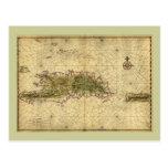 Mapa histórico 1639 de La Española - Joan Vinckebo Postales
