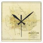 Mapa histórico de Austin Reloj