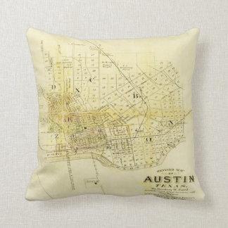 Mapa histórico de la almohada de Austin