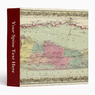 """Mapa histórico de los viajeros 1855-1857 de Long Carpeta 1 1/2"""""""