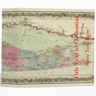 """Mapa histórico de los viajeros 1855-1857 de Long Carpeta 2"""""""