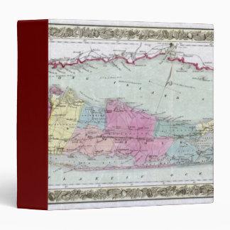 """Mapa histórico de los viajeros 1855-1857 de Long I Carpeta 1 1/2"""""""