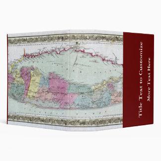 """Mapa histórico de los viajeros 1855-1857 de Long I Carpeta 2"""""""