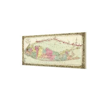 Mapa histórico de los viajeros 1855-1857 de Long I Lienzo Envuelto Para Galerías