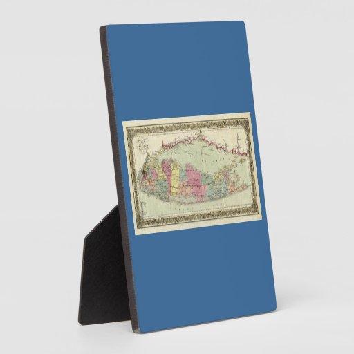 Mapa histórico de los viajeros 1855-1857 de Long I Placas De Madera