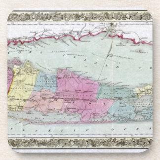 Mapa histórico de los viajeros 1855-1857 de Long I Posavaso