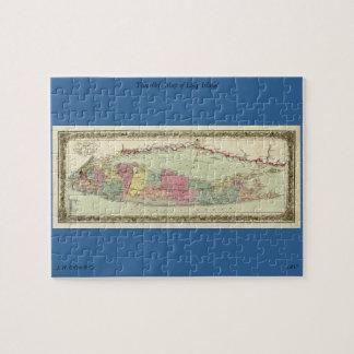 Mapa histórico de los viajeros 1855-1857 de Long I Puzzles