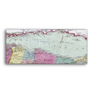 Mapa histórico de los viajeros 1855-1857 de Long I