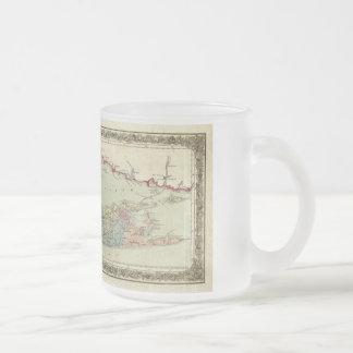 Mapa histórico de los viajeros 1855-1857 de Long Taza De Café Esmerilada