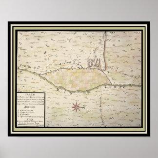 Mapa histórico de Presidio de San Ignacio de Tubac Impresiones