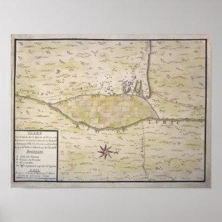 Mapa histórico de Presidio de San Ignacio de Tubac Poster