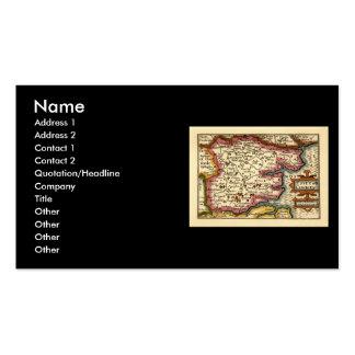 Mapa histórico del condado de Essex, Inglaterra Tarjetas De Visita