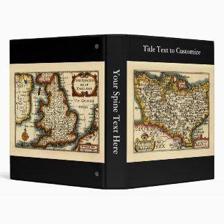 "Mapa histórico del condado de Kent, Inglaterra Carpeta 1"""