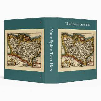 "Mapa histórico del condado de Kent, Inglaterra Carpeta 1 1/2"""