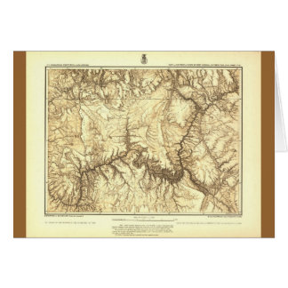 Mapa histórico del Gran Cañón - archivos nacionale Tarjeta De Felicitación