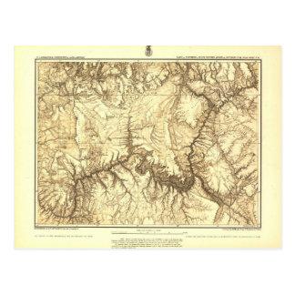 Mapa histórico del Gran Cañón - archivos nacionale Tarjeta Postal