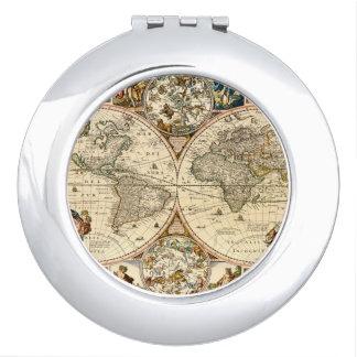 Mapa histórico detallado espejo compacto