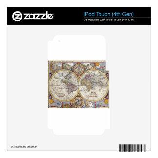 Mapa histórico iPod touch 4G calcomanía