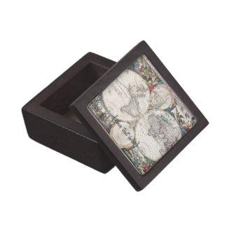 Mapa histórico - Nova Totius Terrarum Orbis Tabula Caja De Recuerdo De Calidad