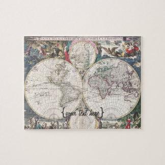 Mapa histórico - Nova Totius Terrarum Orbis Tabula Rompecabezas Con Fotos