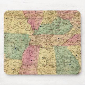 Mapa histórico y militar de los E.E.U.U. Alfombrillas De Ratón