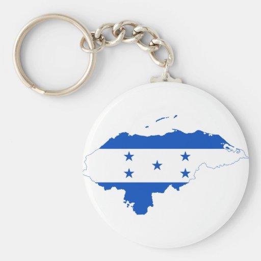Mapa HN de la bandera de Honduras Llavero Redondo Tipo Pin