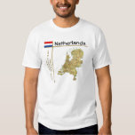 Mapa holandés + Bandera + Camiseta del título Playera