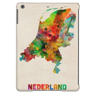 Mapa holandés de la acuarela
