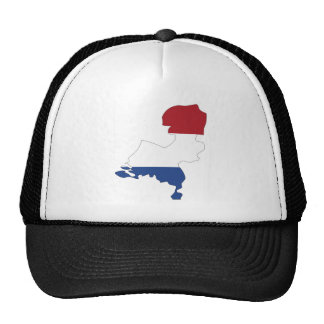Mapa holandés de la bandera del mismo tamaño gorra