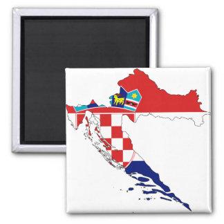Mapa hora Hrvatska de la bandera de Croacia Iman Para Frigorífico