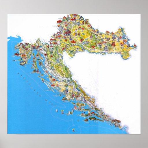 Mapa Hrvatska de Turistička