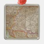 Mapa húngaro del imperio de Austria Ornamento Para Arbol De Navidad