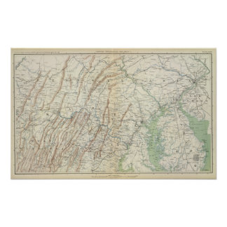 Mapa I de la GEN Póster